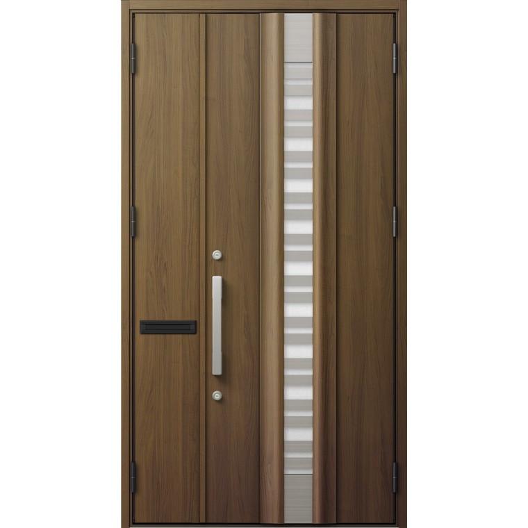 ジエスタ GIESTA G82型 K4仕様 親子ドア 採光なしタイプ ポスト付 採風デザイン 特注サイズ W:1,126~1,390mm × H:1,813~2,330mm 断熱 玄関 リクシル LIXIL DIY リフォーム