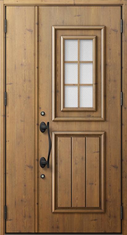 ジエスタ2 防火戸 GIESTA C72型 K2仕様 親子ドア 内外同テイスト W:1,240mm×H:2,330mm 断熱 玄関 ドア リクシル LIXIL