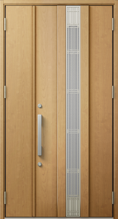 ジエスタ2 防火戸 GIESTA M81型 K4仕様 親子ドア 採風デザイン W:1,240mm×H:2,330mm 断熱 玄関 ドア リクシル LIXIL