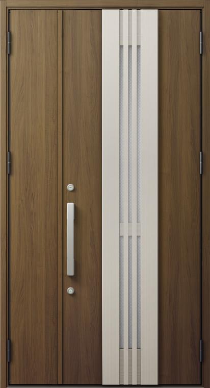 ジエスタ2 防火戸 GIESTA M84型 K4仕様 親子ドア 採風デザイン W:1,240mm×H:2,330mm 断熱 玄関 ドア リクシル LIXIL