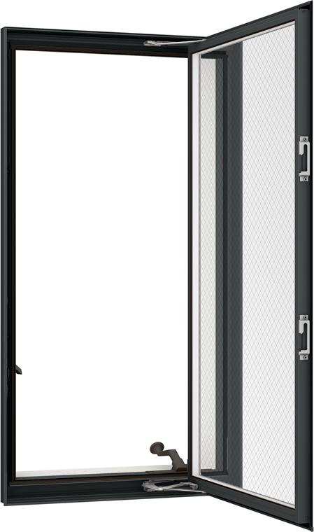 防火戸FG-H LOW-E複層ガラス(網入り) 縦すべり出し窓オペレーターT 単体 サッシ 呼称 03607 W:405mm × H:770mm リクシル トステム