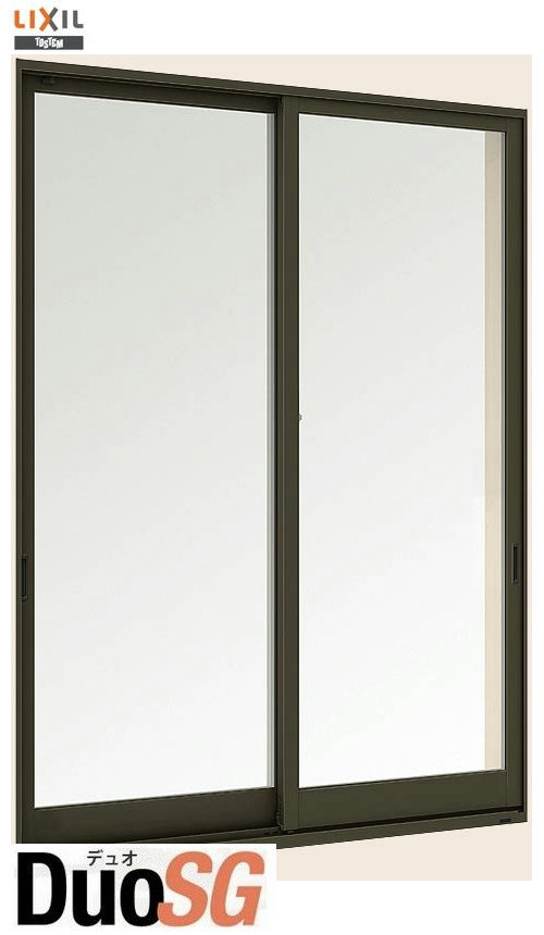 デュオSG 単板ガラス 引違い窓 2枚建 単体 サッシ 半外付型 呼称 15013 W:1540mm×H:1370mm LIXIL リクシル TOSTEM トステム DIY リフォーム