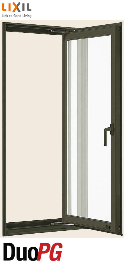 デュオPG 複層ガラス 縦すべり出し窓 単体 サッシ 呼称 02607 W:300mm × H:770mm LIXIL リクシル TOSTEM トステム DIY リフォーム