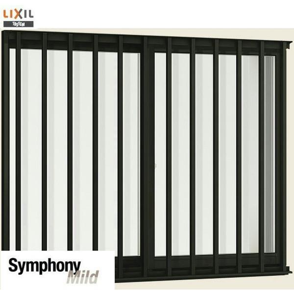 LIXIL 半外付型 窓サッシ 引き違い窓 シンフォニーマイルド 縦面格子付き2枚建 呼称 12807 W:1320 × H:770 DIY リフォーム ※19年12月末仕様変更の為販売終了