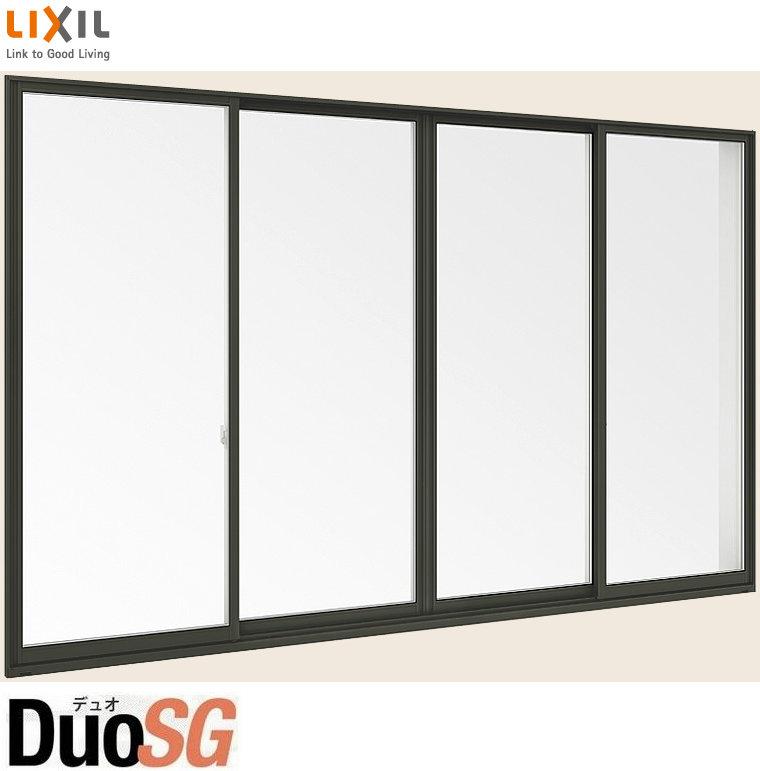 開店祝い トステム LIXIL 4枚建 単体 リクシル 単板ガラス 半外付型 引違い窓 デュオSG サッシ W:2600mm×H:2230mm DIY リフォーム:Clair(クレール)店 呼称 256224 TOSTEM-木材・建築資材・設備