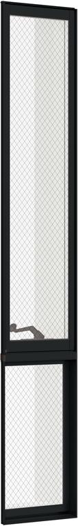 防火戸FG-L LOW-E複層ガラス 縦すべり出し窓オペレーターTF(FIX外押縁) 単体 サッシ 呼称 02620M(マド) W:300mm × H:2,070mm リクシル トステム