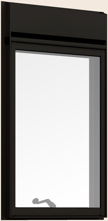 防火戸FG-H 縦すべり出し窓 オペレーターハンドル(段窓排気ファン) Low-E複層ガラス 06015 W:640mm × H:1,570mm リクシル トステム