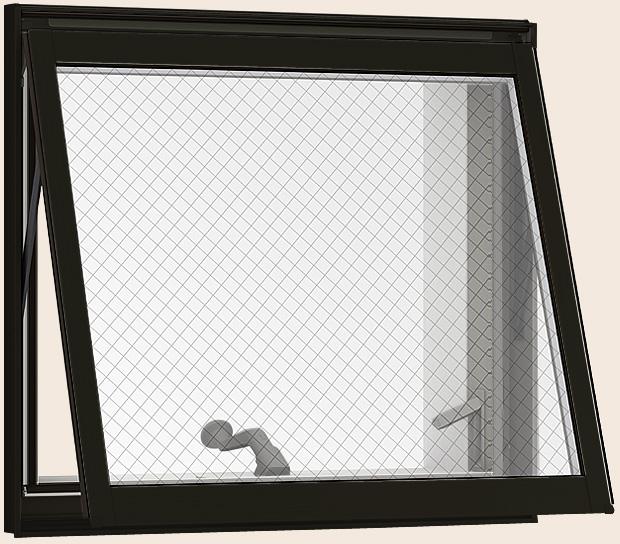 防火戸FG-H 横すべり出し窓オペレーター Low-E複層ガラス(網入り) / アルミスペーサー仕様 06009 W:640mm × H:970mm リクシル