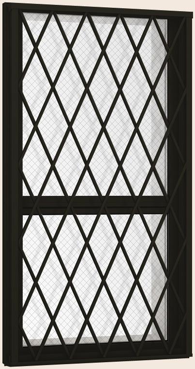 防火戸FG-H 面格子付き 上げ下げ窓FS Low-E複層ガラス(網入り) / アルミスペーサー仕様 06913 W:730mm × H:1,370mm LIXIL リクシル TOSTEM トステム