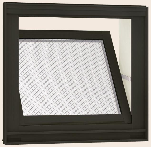 防火戸FG-H 内倒し窓 Low-E複層ガラス(網入り) / アルミスペーサー仕様 06003 W:640mm × H:370mm LIXIL リクシル TOSTEM トステム