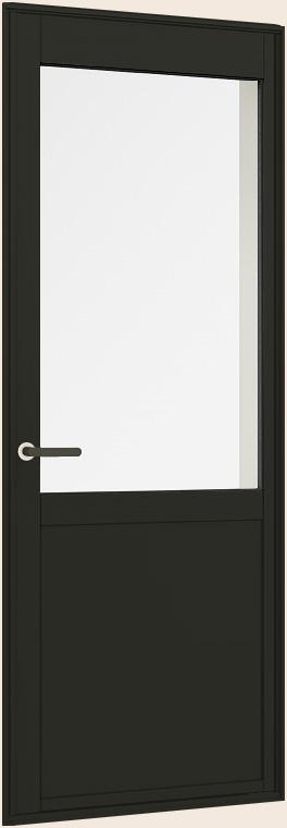 サーモスII-H 一般複層ガラス 樹脂アルミ複合 勝手口ドア(中桟付・腰パネル有無選択) 半外付型 呼称 07418 W780mm×H1,830mm LIXIL リクシル TOSTEM トステム
