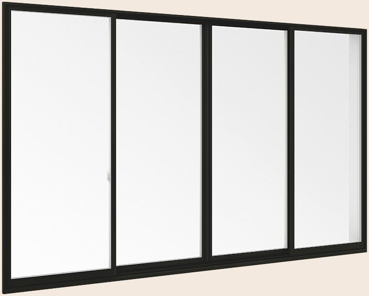 サーモスII-H 一般複層ガラス 樹脂アルミ複合サッシ 引違い窓 単体 サッシ 4枚建 呼称 256134 W:2,600mm×H:1,370mm LIXIL リクシル TOSTEM トステム