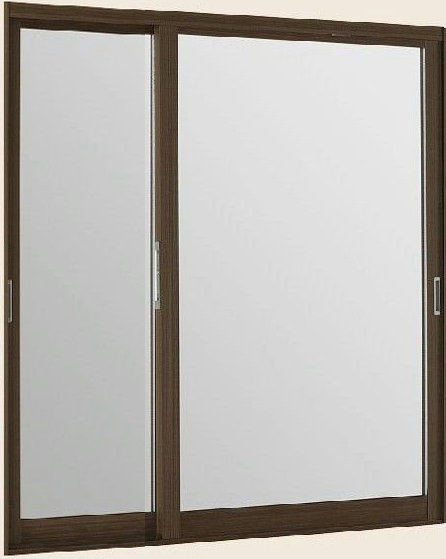 インプラス ウッド 引違い窓 変則2枚建 複層ガラス 透明3mm+透明3mm格子入ガラス W:550~1500mm×H:339~600mm リクシル 内窓 断熱効果 結露防止 TOSTEM LIXIL DIY 二重窓 リフォーム