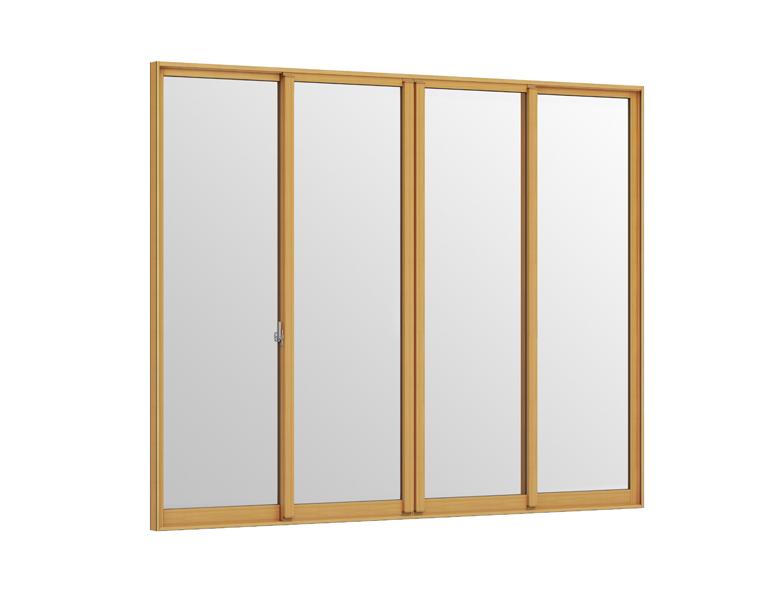 インプラス 引違い窓 4枚建 Low-E複層フロストガラス W:3,001~4,000mm × H:1,401~1,900mm 内窓 二重窓 LIXIL リクシル TOSTEM トステム