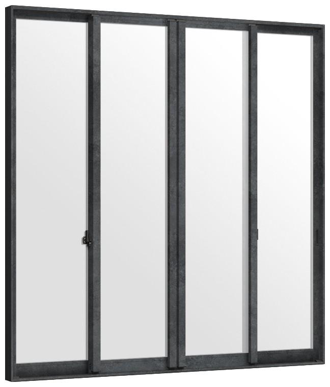 【驚きの値段で】 インプラス Renovation 引違い窓 4枚建て 複層ガラス(モール)仕様 W:2,001~3,000mm × H:1,401~1,900mm 内窓 二重窓 リノベーション LIXIL TOSTEM, 日置川町 6b277664