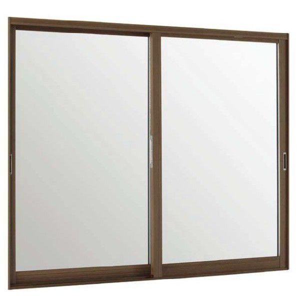 【特価】 内窓 DIY リフォーム:Clair(クレール)店 LIXIL 引違い窓 インプラス ウッド 3mm透明組子付ガラス W:550~1000mm×H:601~1000mm 2枚建 単板ガラス リクシル TOSTEM-木材・建築資材・設備