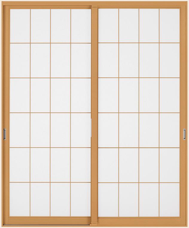 インプラスウッド 引違い窓 2枚建 格子入り複層ガラス(透明) W:2,001~2,500mm × H:1,401~1,900mm 内窓 二重窓 LIXIL リクシル TOSTEM トステム