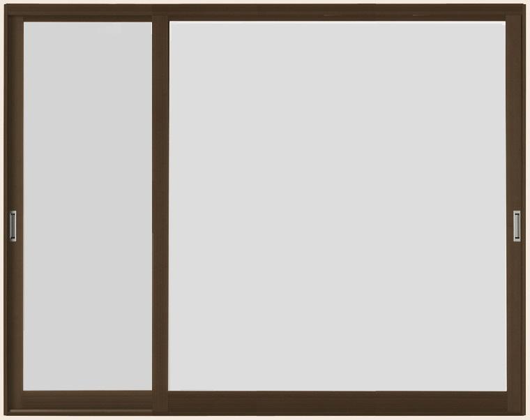 インプラスウッド 引き違い窓 変則2枚建て 4mm型ガラス仕様 W:1,501~2,000mm × H:1,001~1,400mm LIXIL リクシル TOSTEM トステム