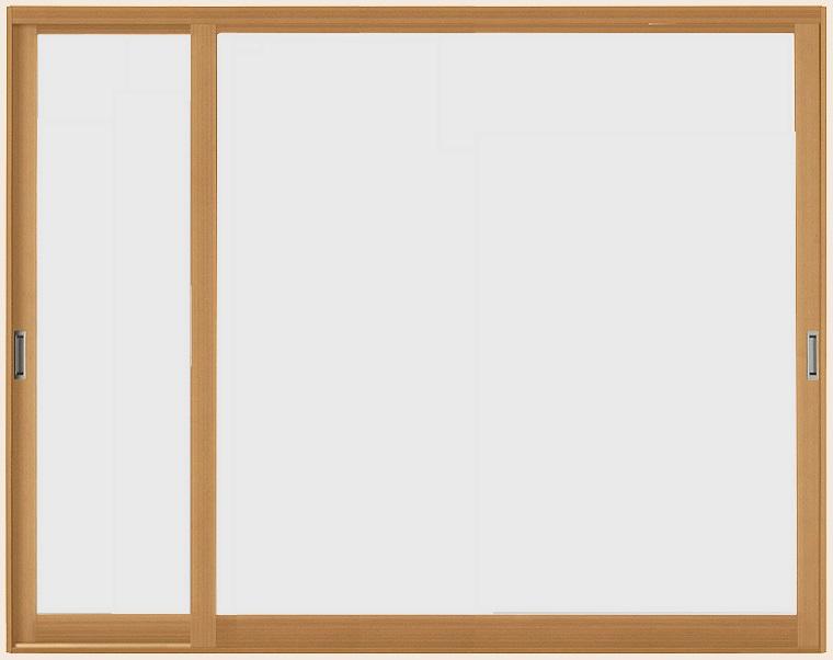 インプラスウッド 引き違い窓 変則2枚建て 一般複層透明ガラス W:1,501~2,000mm × H:1,401~1,900mm LIXIL リクシル TOSTEM トステム