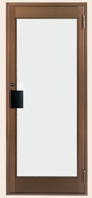 クリエラガラスドア 片開き 内付型 1枚ガラス仕様 押板把手 特注サイズ W:538~923mm × H:1,084~2,204mm 店舗 事務所 ドア LIXIL リクシル TOSTEM トステム DIY リフォーム