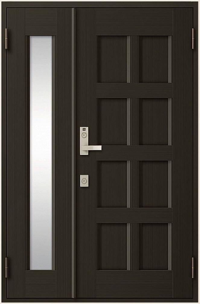クリエラR 親子ドア 10型 半外付型 ランマなし 鎌付箱錠仕様 W:1,240mm × H:1,917mm LIXIL リクシル TOSTEM トステム DIY リフォーム