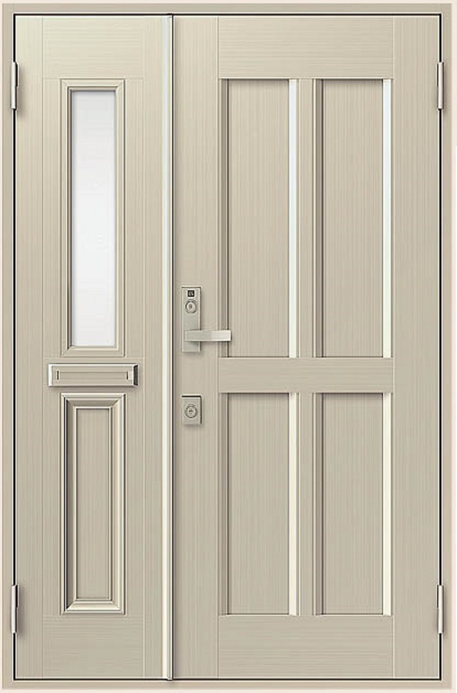 クリエラR 親子ドア 11型 半外付型 ランマなし 鎌付箱錠仕様 W:1,240mm × H:1,917mm LIXIL リクシル TOSTEM トステム DIY リフォーム
