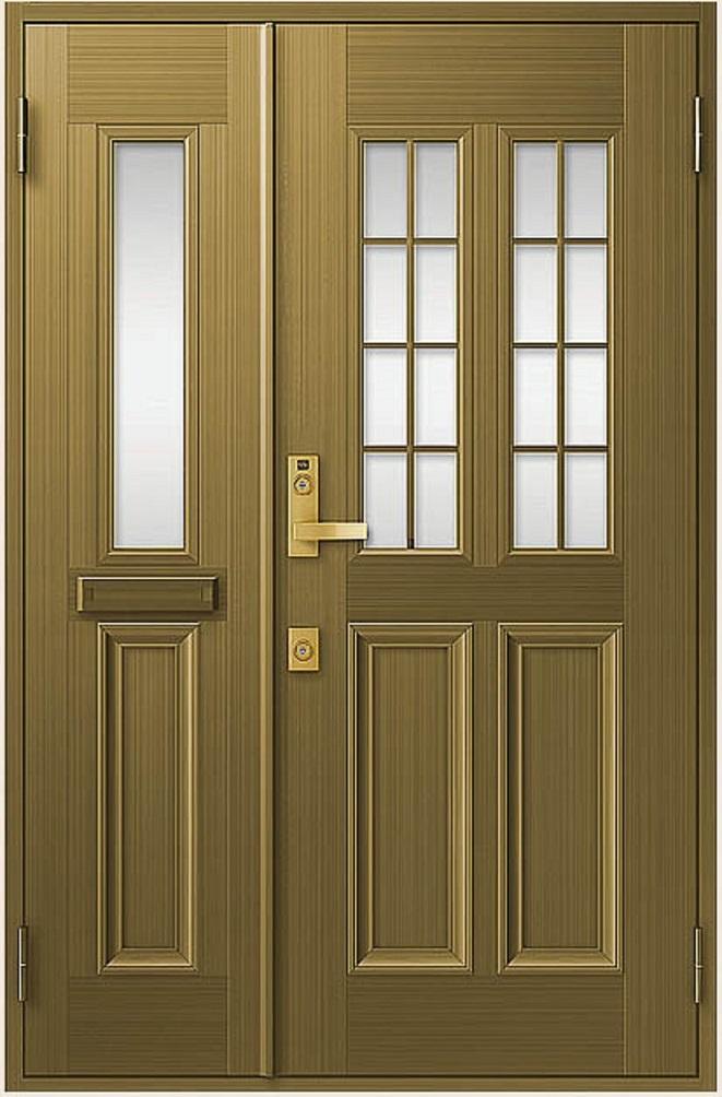 クリエラR 親子ドア 12型 半外付型 ランマなし 鎌付箱錠仕様 特注寸法 W:1,240mm × H:1,717~2,017mm LIXIL リクシル TOSTEM トステム DIY リフォーム