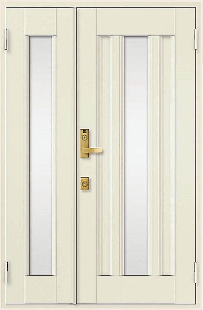 クリエラR 親子ドア 16型 半外付型 ランマなし 鎌付箱錠仕様 W:1,240mm × H:1,917mm LIXIL リクシル TOSTEM トステム DIY リフォーム