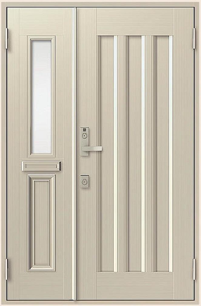 クリエラR 親子ドア 19型 半外付型 ランマなし 鎌付箱錠仕様 W:1,240mm × H:1,917mm LIXIL リクシル TOSTEM トステム DIY リフォーム