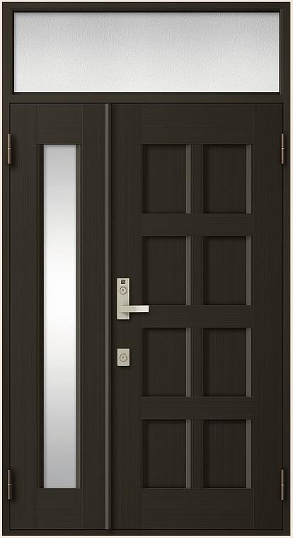 クリエラR 親子ドア 10型 半外付型 ランマ付き 鎌付箱錠仕様 W:1,240mm × H:2,330mm LIXIL リクシル TOSTEM トステム DIY リフォーム