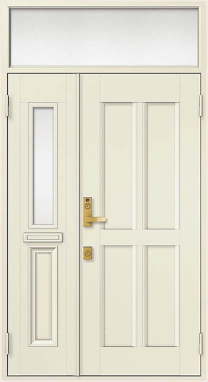 クリエラR 親子ドア 11型 半外付型 ランマ付き 鎌付箱錠仕様 特注寸法 W:1240mm × H:1,892~2,502mm LIXIL リクシル TOSTEM トステム DIY リフォーム
