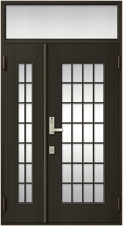 クリエラR 親子ドア 14型 半外付型 ランマ付き 特注寸法 W:940~1,240mm × H:1,492~2,502mm LIXIL リクシル TOSTEM トステム DIY リフォーム