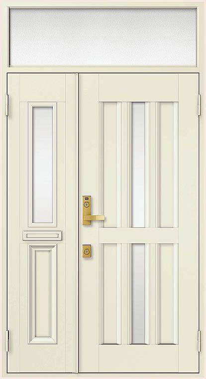 クリエラR 親子ドア 15型 半外付型 ランマ付き 鎌付箱錠仕様 W:1,240mm × H:2,330mm LIXIL リクシル TOSTEM トステム DIY リフォーム