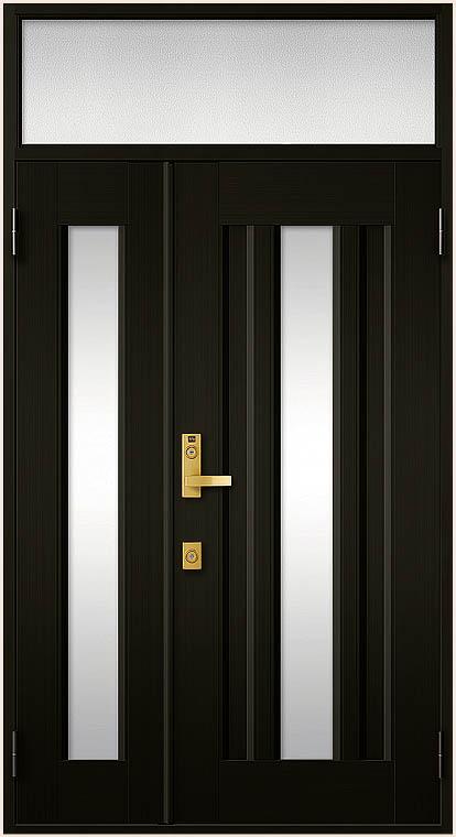 クリエラR 親子ドア 16型 半外付型 ランマ付き 鎌付箱錠仕様 W:1,240mm × H:2,330mm LIXIL リクシル TOSTEM トステム DIY リフォーム