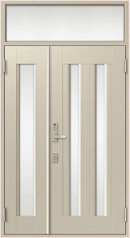 クリエラR 親子ドア 17型 内付型 ランマ付き 鎌付箱錠仕様 W:1,240mm × H:2,330mm LIXIL リクシル TOSTEM トステム DIY リフォーム
