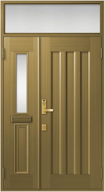 クリエラR 親子ドア 19型 内付型 ランマ付き 鎌付箱錠仕様 W:1,240mm × H:2,330mm LIXIL リクシル TOSTEM トステム DIY リフォーム
