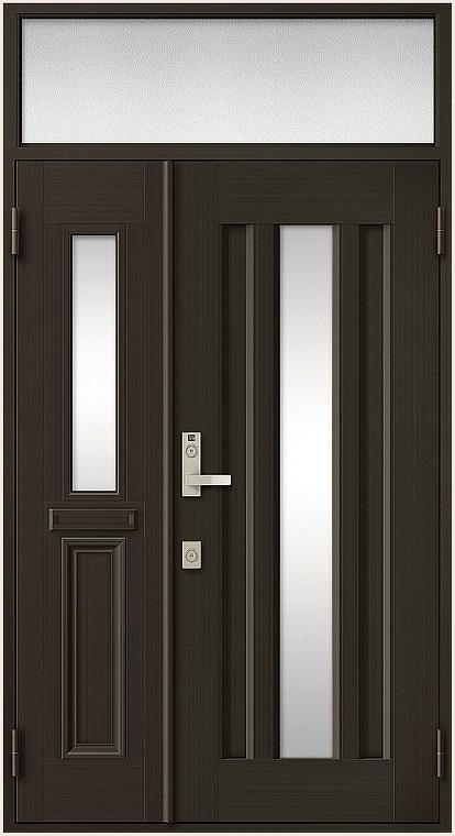 クリエラR 親子ドア 16型 ポスト付き 半外付型 ランマ付き W:1,240mm × H:2,330mm LIXIL リクシル TOSTEM トステム DIY リフォーム