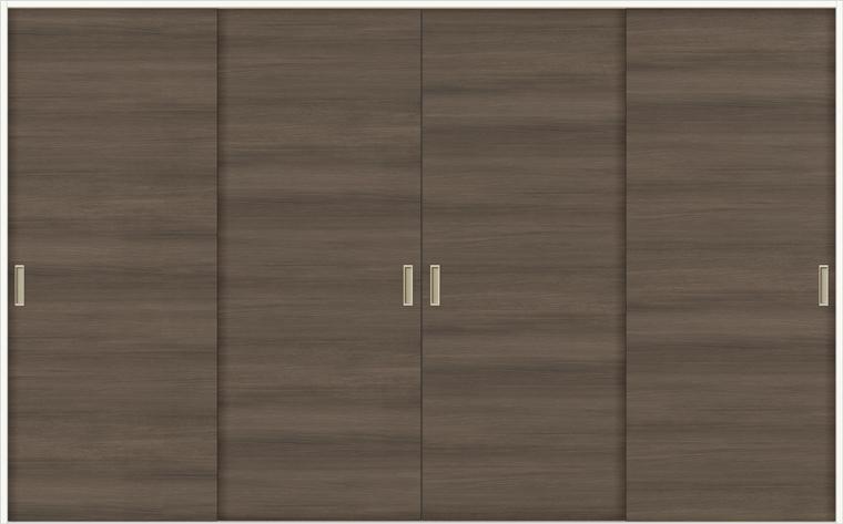 特注サイズ ラシッサD ラテオ 室内引戸 Vレール方式 引違い4枚建て ALHF-LAA 錠なし W:1789-3949mm × H:628-2425mm ノンケーシング / ケーシング リクシル