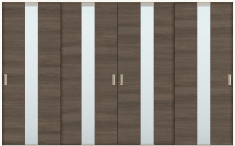 ラシッサD ラテオ 室内引戸 Vレール方式 引違い4枚建て ALHF-LGM 錠無し 3220 W:3,253mm × H:2,023mm ノンケーシング / ケーシング LIXIL リクシル TOSTEM