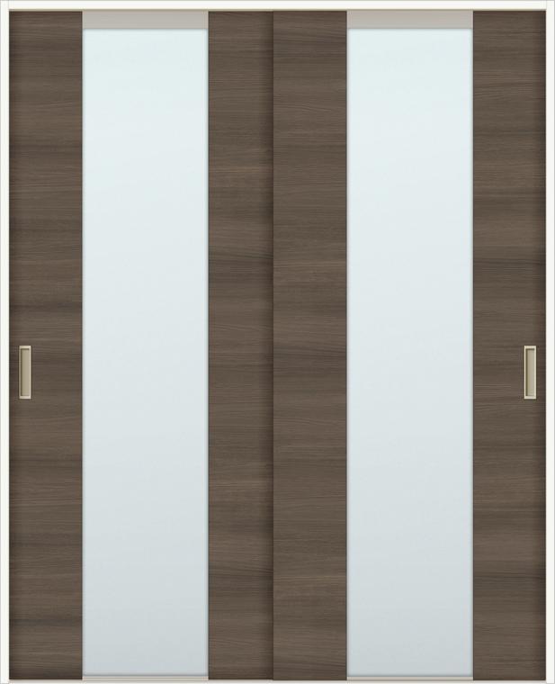 ラシッサD ラテオ 室内引戸 Vレール方式 引違い2枚建て ALHH-LGN 錠無し 1620 W:1,644mm × H:2,023mm ノンケーシング / ケーシング LIXIL TOSTEM