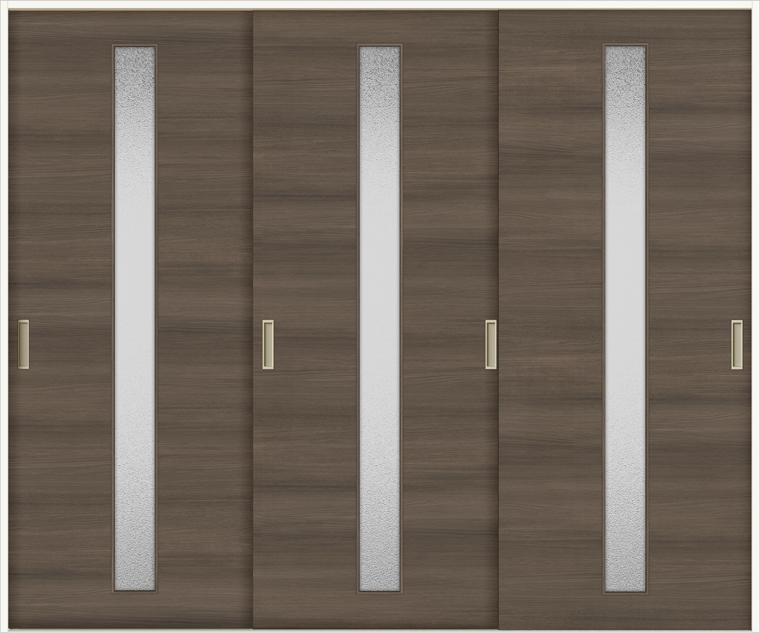 ラシッサD ラテオ 室内引戸 Vレール方式 引違い3枚建て ALHT-LGA 錠無し 2420 W:2,432mm × H:2,023mm ノンケーシング / ケーシング LIXIL リクシル TOSTEM