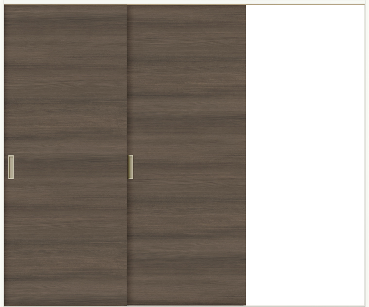 ラシッサDラテオ 室内引戸 Vレール方式 片引戸2枚建て ALKD-LAA 錠無し 2420 W:2,432mm × H:2,023mm ノンケーシング / ケーシング LIXIL TOSTEM
