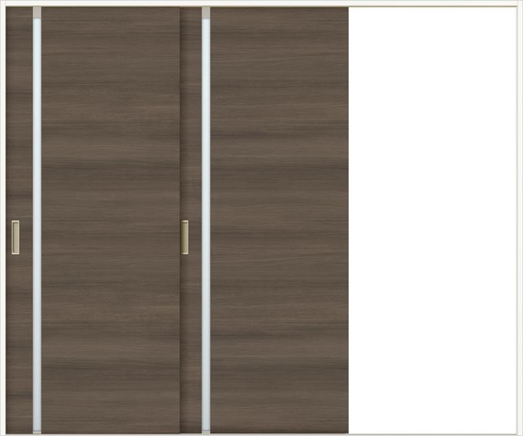 特注サイズ ラシッサDラテオ 室内引戸 Vレール方式 片引戸2枚建て ALKD-LGL 錠なし W:1748-2954mm × H:1728-2425mm ノンケーシング / ケーシング