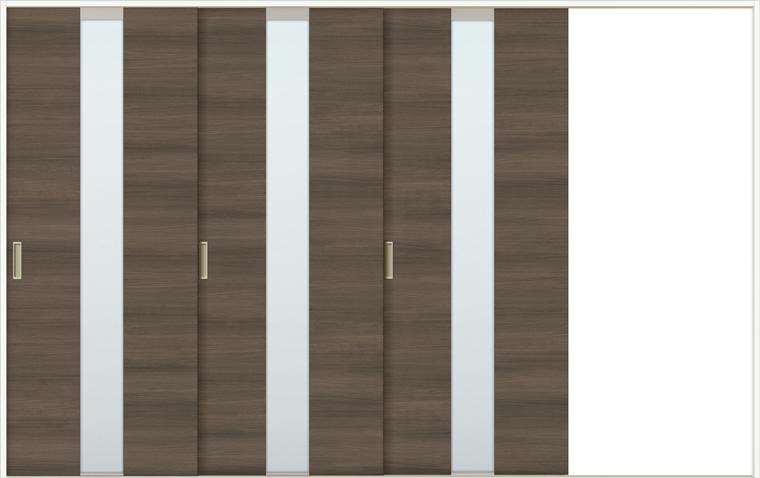 ラシッサD ラテオ 室内引戸 Vレール方式 片引戸3枚建て ALKT-LGM 錠無し 3220 W:3,220mm × H:2,023mm ノンケーシング / ケーシング LIXIL TOSTEM