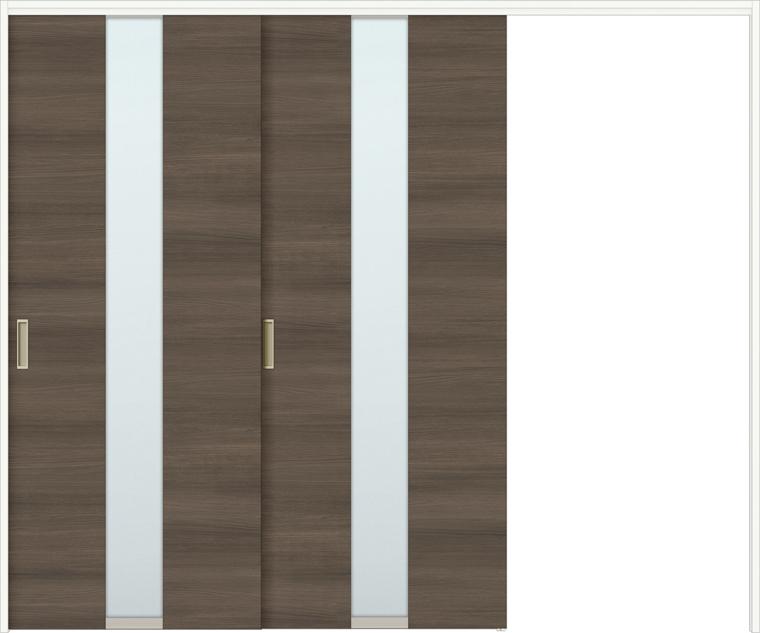 特注サイズ ラシッサDラテオ 室内引戸 間仕切り上吊引戸 片引戸2枚建て ALMKD-LGM 錠無し W:1604-2954mm × H:1750-2425mm ノンケーシング / ケーシング