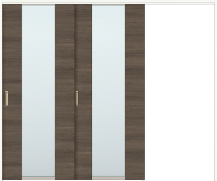 ラシッサD ラテオ 室内引戸 間仕切り 上吊引戸 片引戸 2枚建て ALMKD-LGN 錠無し 2423 W:2,432mm × H:2,306mm ノンケーシング / ケーシング LIXIL TOSTEM
