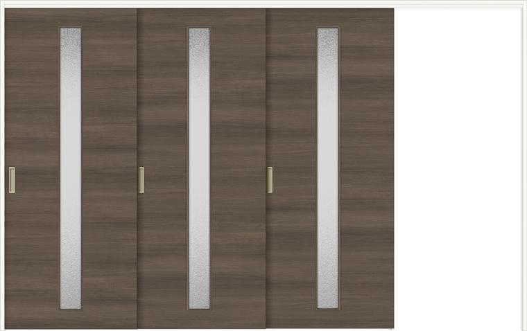 ラシッサD ラテオ 室内引戸 間仕切り 上吊引戸 片引戸 3枚建て ALMKT-LGA 錠無し 3223 W:3,220mm × H:2,306mm ノンケーシング / ケーシング LIXIL TOSTEM