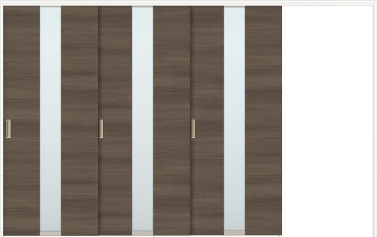 ラシッサD ラテオ 室内引戸 間仕切り 上吊引戸 片引戸 3枚建て ALMKT-LGM 錠無し 3220 W:3,220mm × H:2,023mm ノンケーシング / ケーシング LIXIL TOSTEM