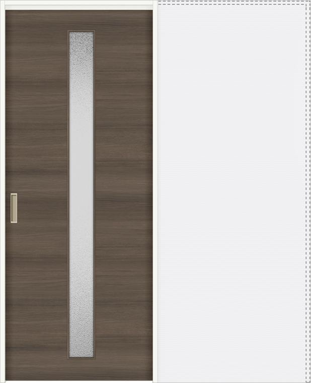 特注サイズ ラシッサD ラテオ 上吊引戸 引込み戸標準 ALUHK-LGA 錠付 W:1188-1992mm × H:1750-2425mm ノンケーシング / ケーシング