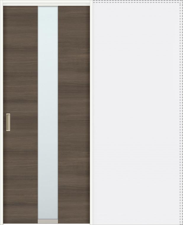 特注サイズ ラシッサD ラテオ 上吊引戸 引込み戸標準 ALUHK-LGM 錠なし W:1188-1992mm × H:1750-2425mm ノンケーシング / ケーシング